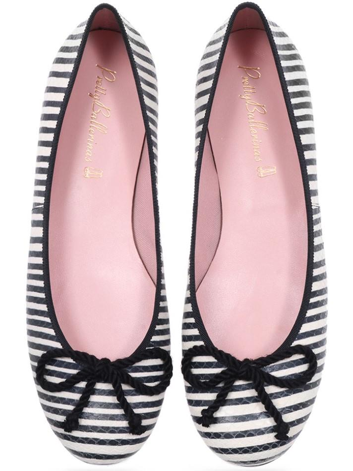 Laylah|שחור|לבן|נעלי בובה|נעלי בלרינה|נעליים שטוחות|נעליים נוחות|ballerinas