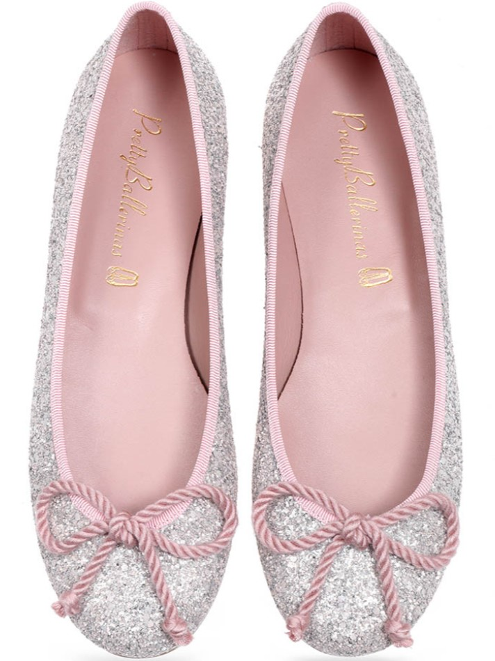Rosario כסף נעלי בובה נעלי בלרינה נעליים שטוחות נעליים נוחות ballerinas
