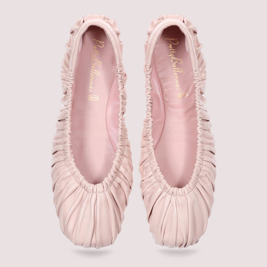 Kristen|ורוד|נעלי בובה|נעלי בלרינה|נעליים שטוחות|נעליים נוחות|ballerinas