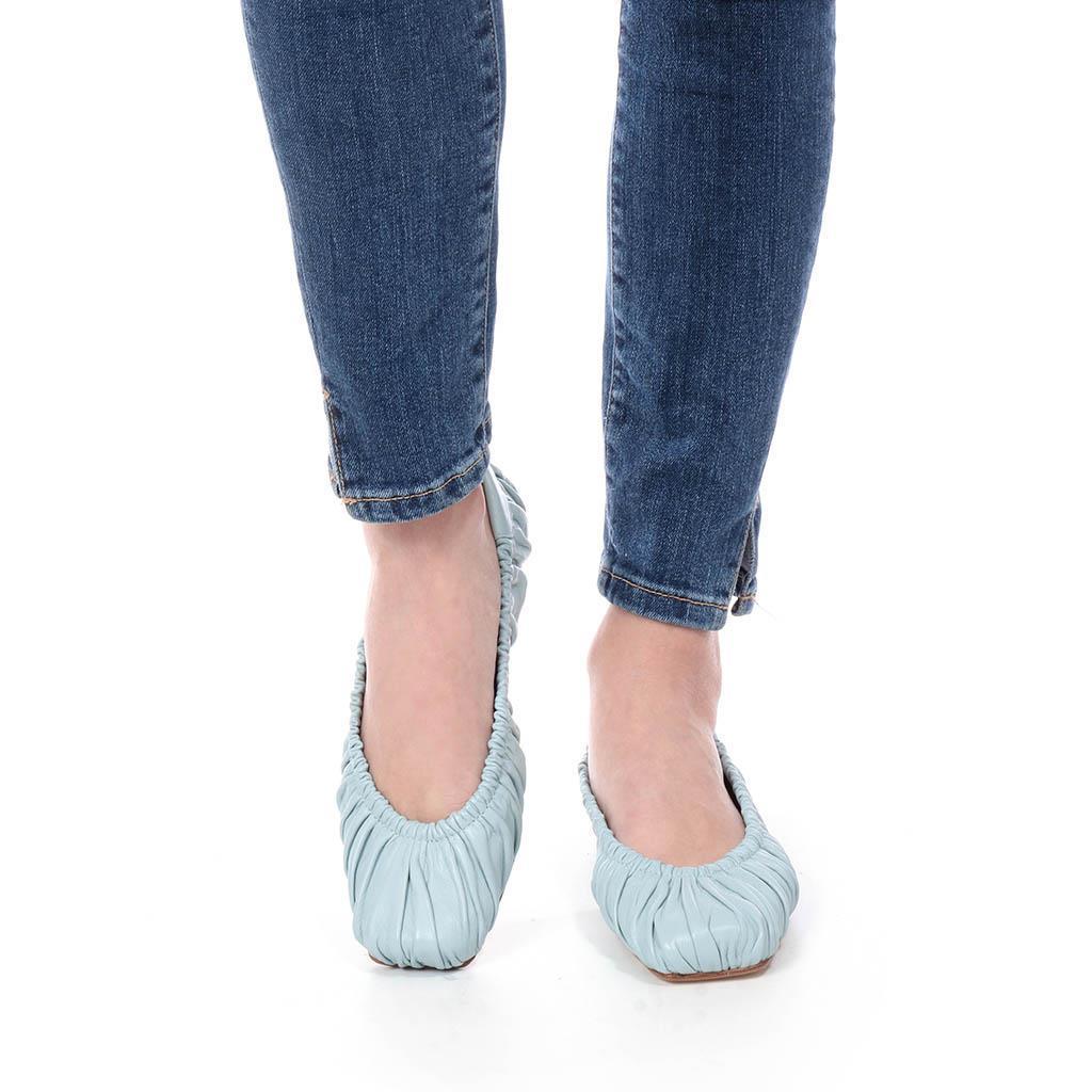 Kristen|תכלת|נעלי בובה|נעלי בלרינה|נעליים שטוחות|נעליים נוחות|ballerinas