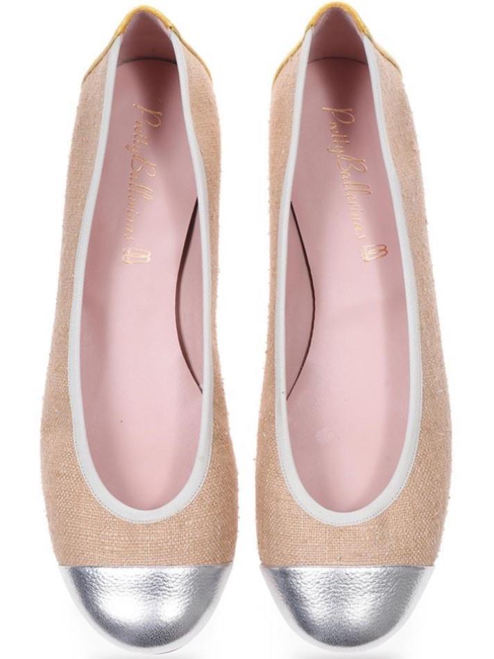 Emilee|כסף|אבן|נעלי בובה|נעלי בלרינה|נעליים שטוחות|נעליים נוחות|ballerinas