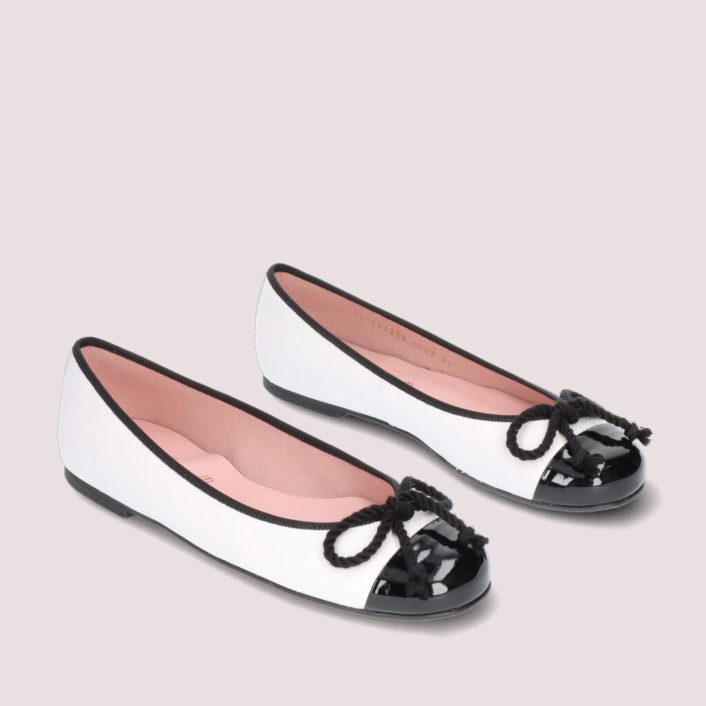 Rosario שחור לבן נעלי בובה נעלי בלרינה נעליים שטוחות נעליים נוחות ballerinas