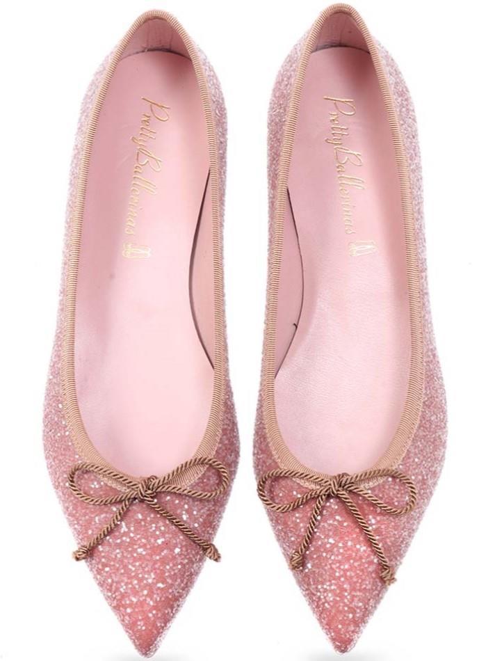 Statice|ורוד|נעלי בובה|נעלי בלרינה|נעליים שטוחות|נעליים נוחות|ballerinas