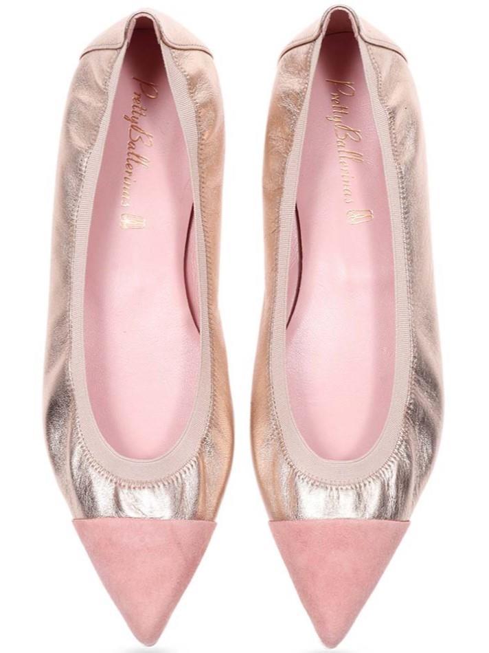 Cirrus|ורוד|זהב|נעלי בובה|נעלי בלרינה|נעליים שטוחות|נעליים נוחות|ballerinas
