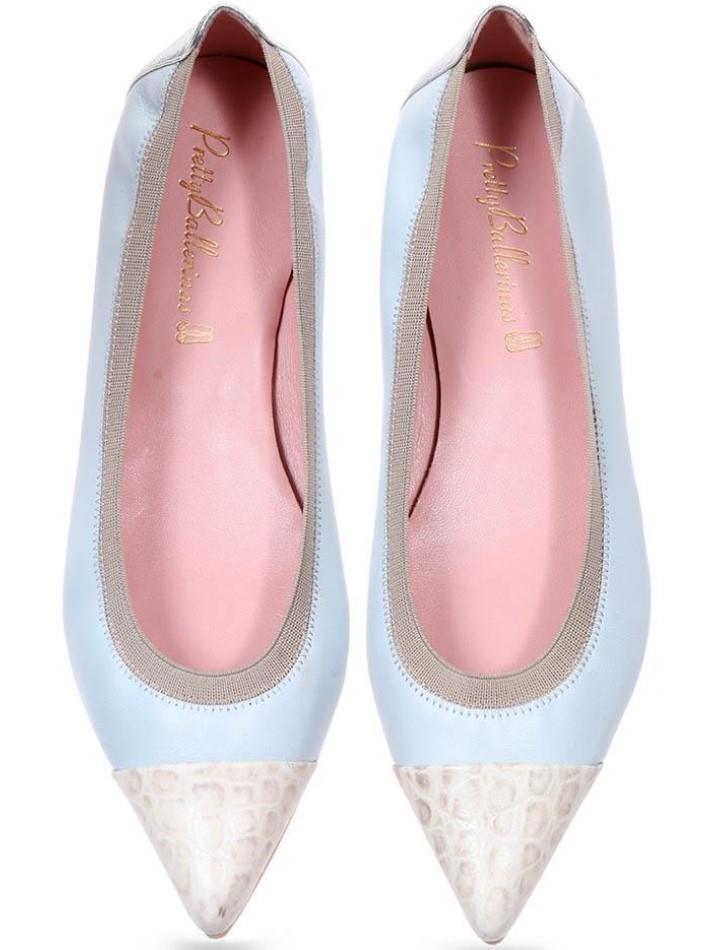 Reyna|לבן|אבן|תכלת|נעלי בובה|נעלי בלרינה|נעליים שטוחות|נעליים נוחות|ballerinas