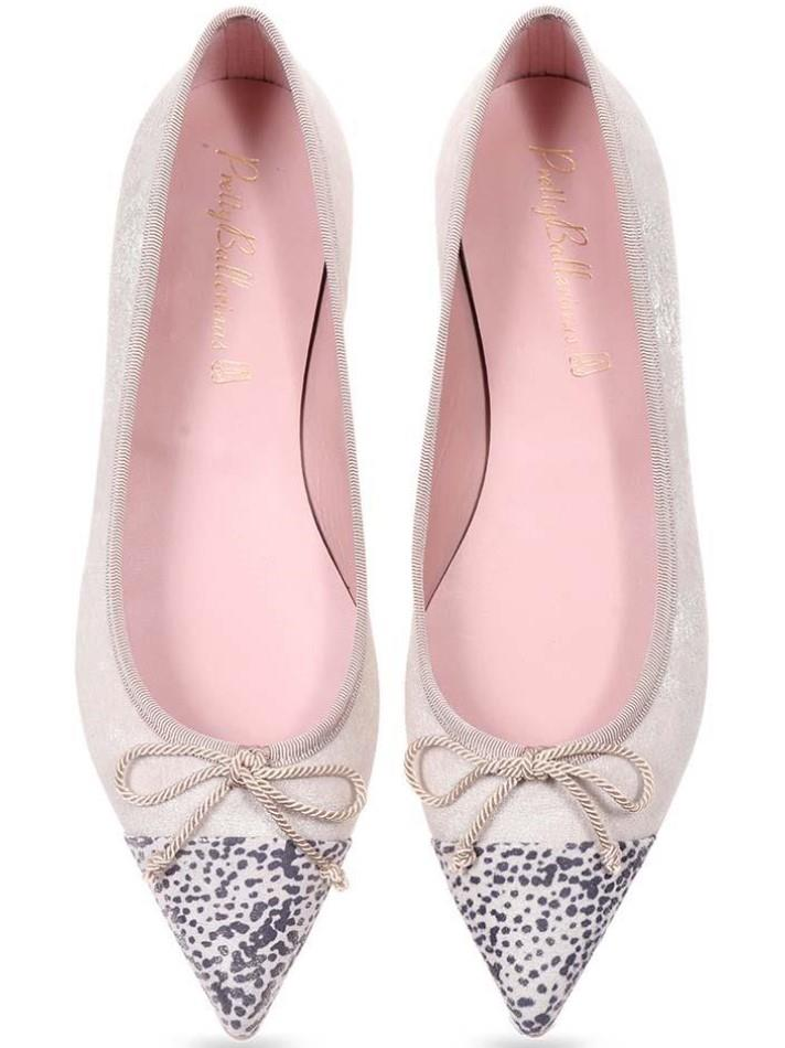 Ella|אבן|כסף|נעלי בובה|נעלי בלרינה|נעליים שטוחות|נעליים נוחות|ballerinas