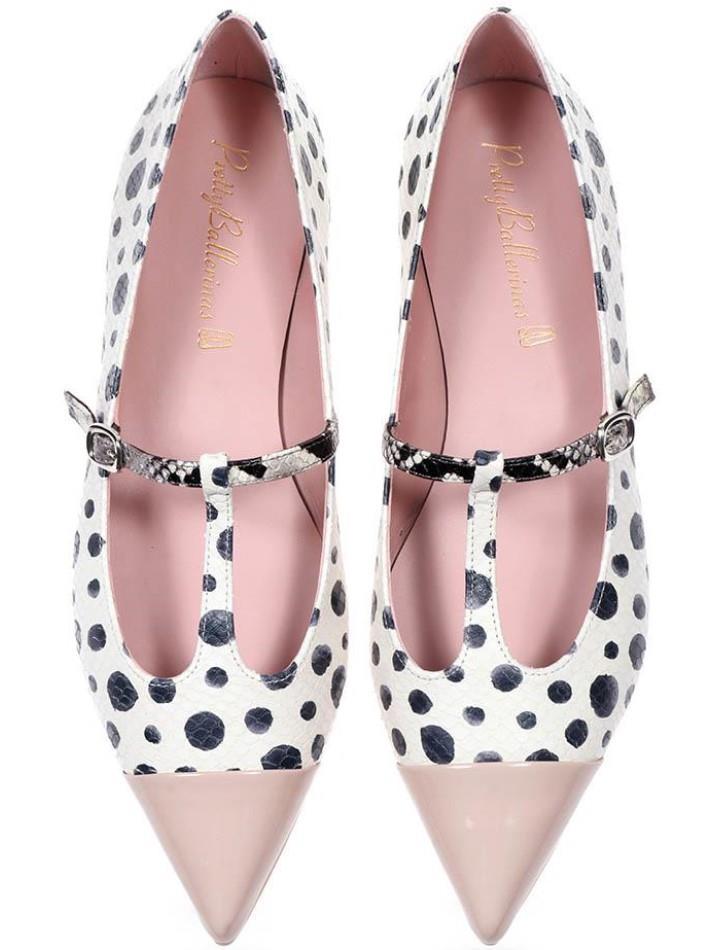 Ella|ורוד|לבן|שחור|נעלי בובה|נעלי בלרינה|נעליים שטוחות|נעליים נוחות|ballerinas
