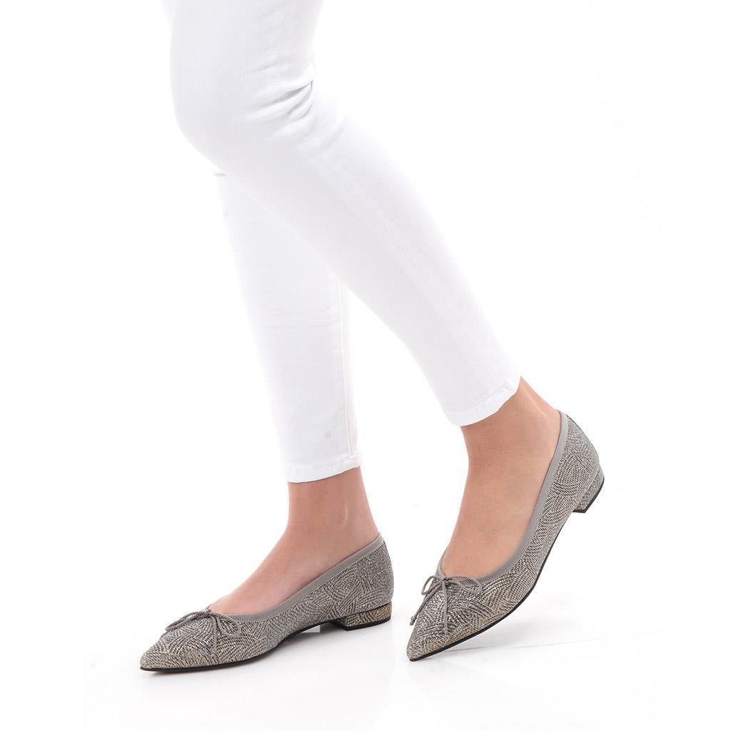 Quinn|כסף|נעלי בובה|נעלי בלרינה|נעליים שטוחות|נעליים נוחות|ballerinas