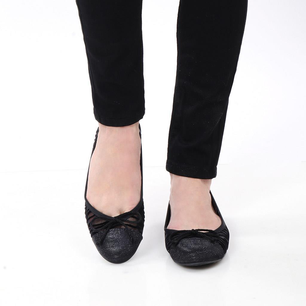 Marilyn|שחור|נעלי בובה|נעלי בלרינה|נעליים שטוחות|נעליים נוחות|ballerinas