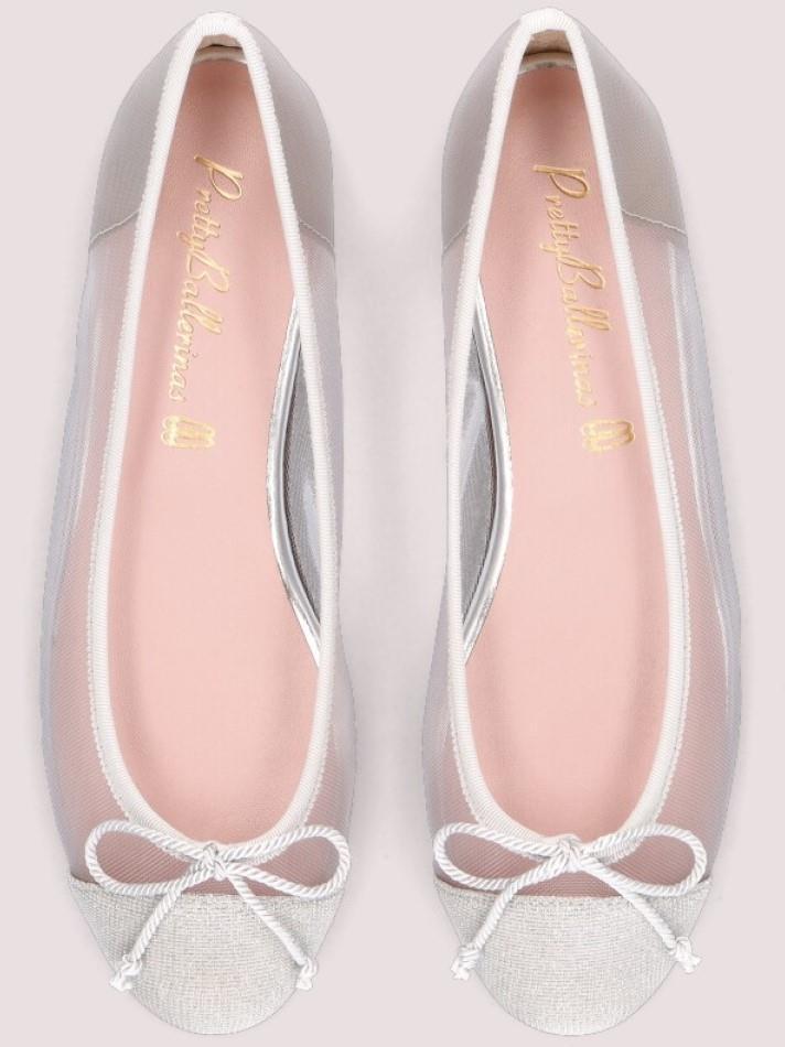 Marilyn|כסף|נעלי בובה|נעלי בלרינה|נעליים שטוחות|נעליים נוחות|ballerinas