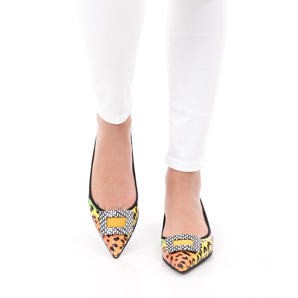 Ella|צהוב|כתום|שחור|לבן|נעלי בובה|נעלי בלרינה|נעליים שטוחות|נעליים נוחות|ballerinas