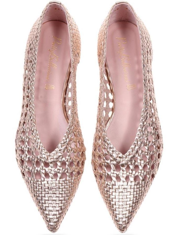 Ella|זהב|נעלי בובה|נעלי בלרינה|נעליים שטוחות|נעליים נוחות|ballerinas