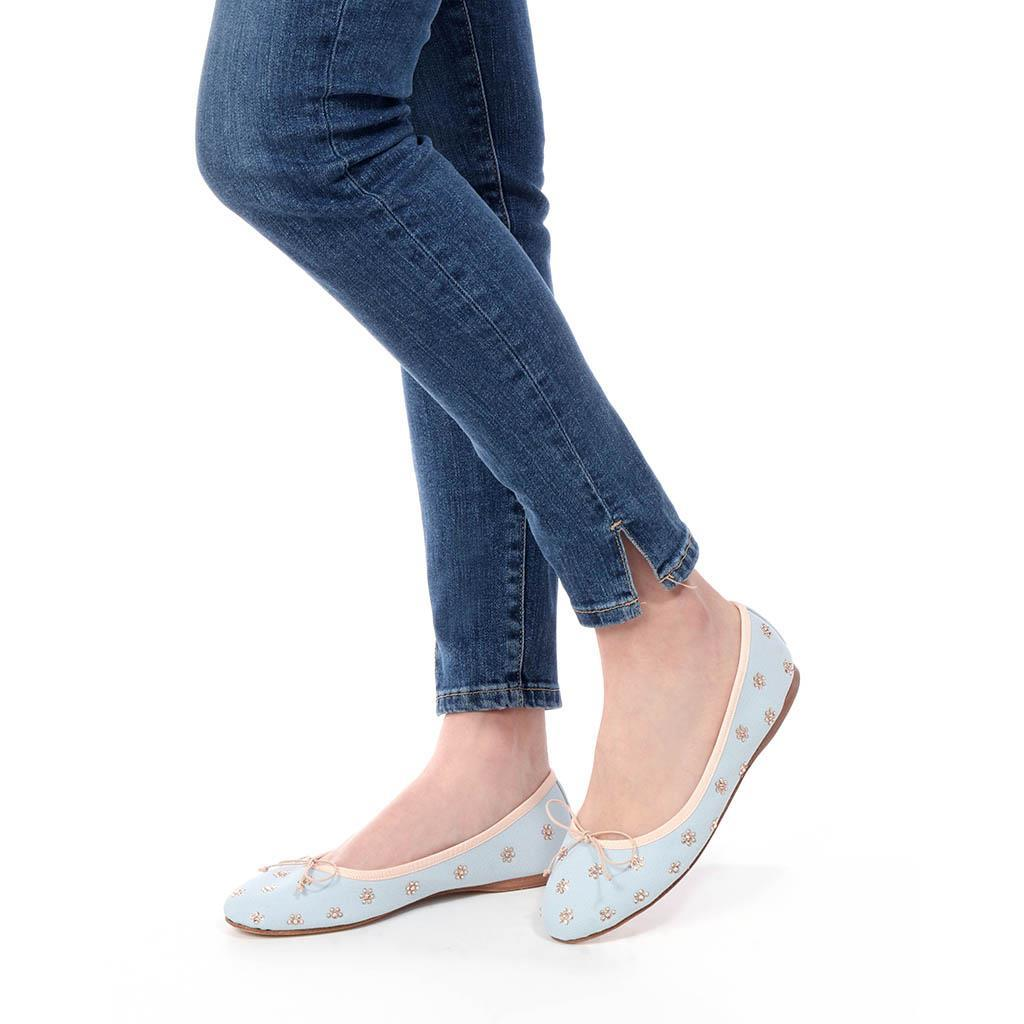 Marilyn|תכלת|נעלי בובה|נעלי בלרינה|נעליים שטוחות|נעליים נוחות|ballerinas