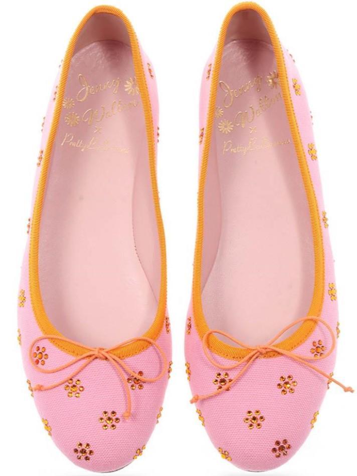 Marilyn|ורוד|נעלי בובה|נעלי בלרינה|נעליים שטוחות|נעליים נוחות|ballerinas