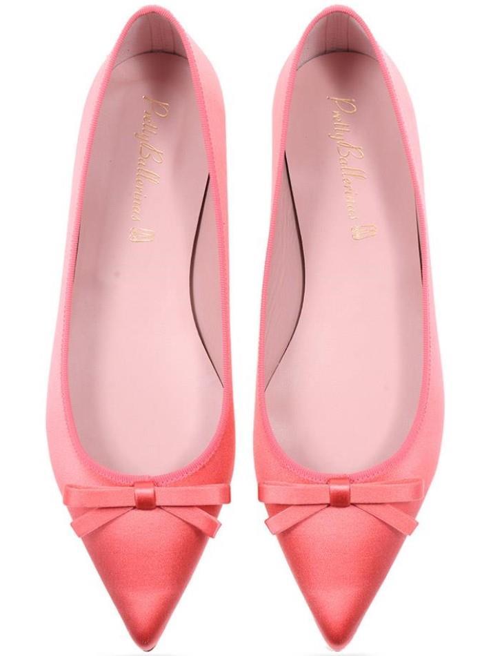 Ella|ורוד|ירוק|נעלי בובה|נעלי בלרינה|נעליים שטוחות|נעליים נוחות|ballerinas