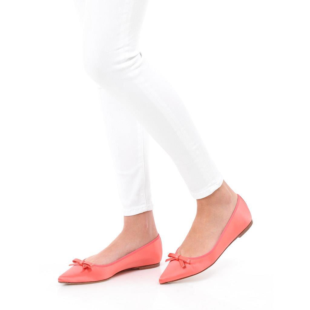 Ella ורוד ירוק נעלי בובה נעלי בלרינה נעליים שטוחות נעליים נוחות ballerinas