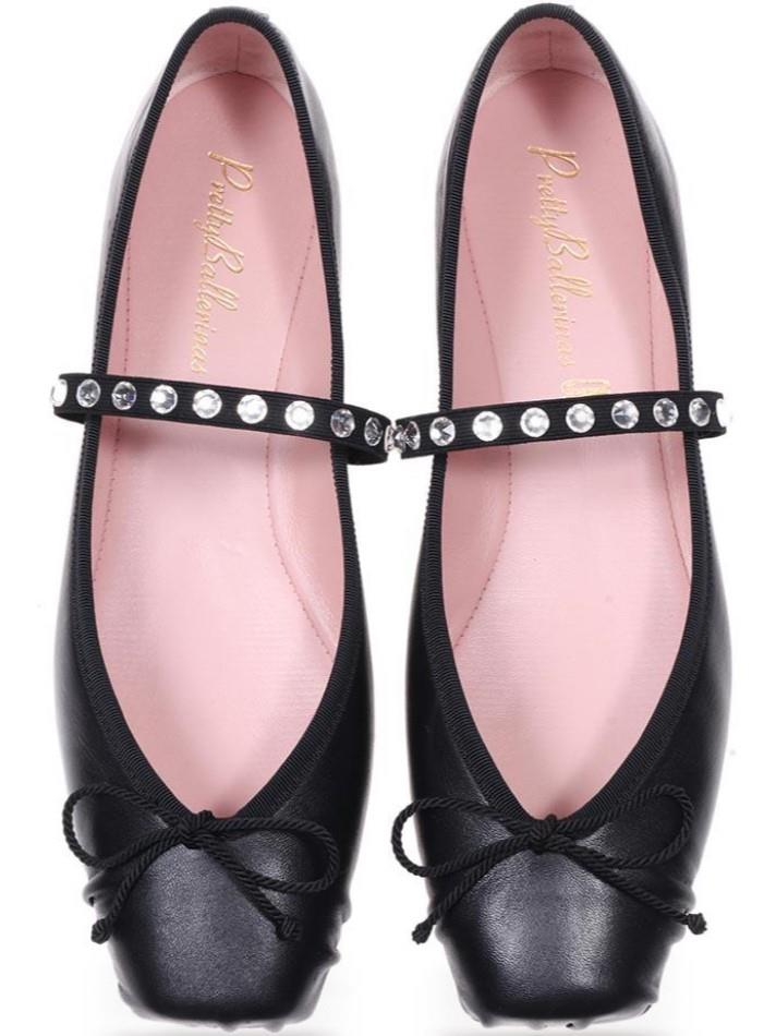 Lilian|שחור|נעלי בובה|נעלי בלרינה|נעליים שטוחות|נעליים נוחות|ballerinas