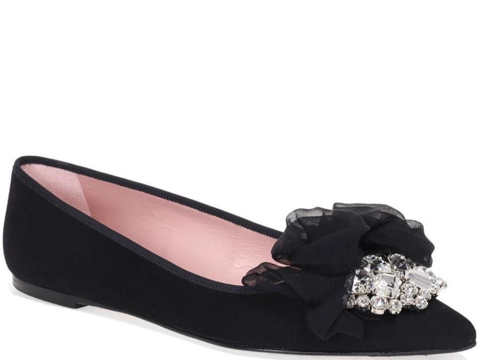 Adley שחור נעלי בובה נעלי בלרינה נעליים שטוחות נעליים נוחות ballerinas