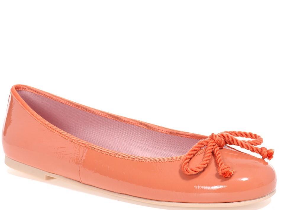 Shiloh|כתום|נעלי בובה|נעלי בלרינה|נעליים שטוחות|נעליים נוחות|ballerinas