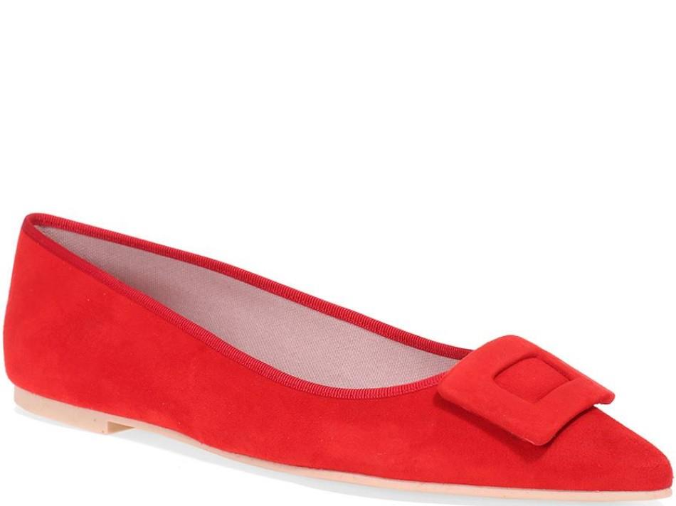 Aleena|אדום|נעלי בובה|נעלי בלרינה|נעליים שטוחות|נעליים נוחות|ballerinas