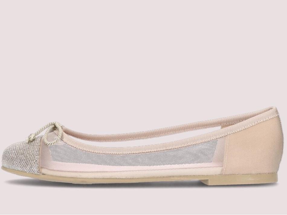 Marilyn|כסף|ניוד|נעלי בובה|נעלי בלרינה|נעליים שטוחות|נעליים נוחות|ballerinas