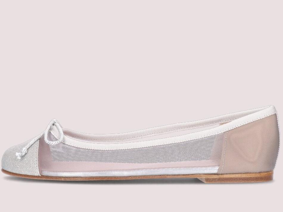 Marilyn כסף נעלי בובה נעלי בלרינה נעליים שטוחות נעליים נוחות ballerinas