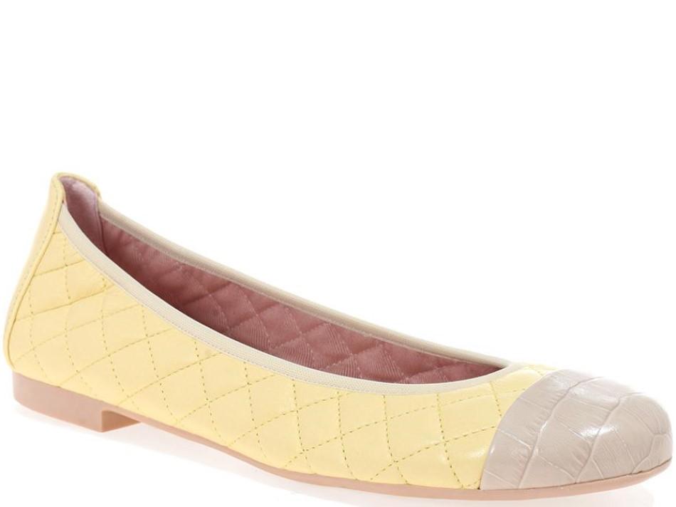 Shirley|אבן|צהוב|נעלי בובה|נעלי בלרינה|נעליים שטוחות|נעליים נוחות|ballerinas