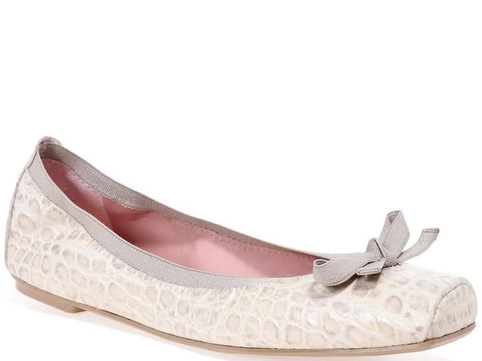 Kristen|לבן|אבן|נעלי בובה|נעלי בלרינה|נעליים שטוחות|נעליים נוחות|ballerinas