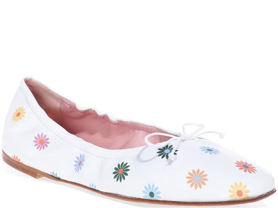 Zoey לבן נעלי בובה נעלי בלרינה נעליים שטוחות נעליים נוחות ballerinas