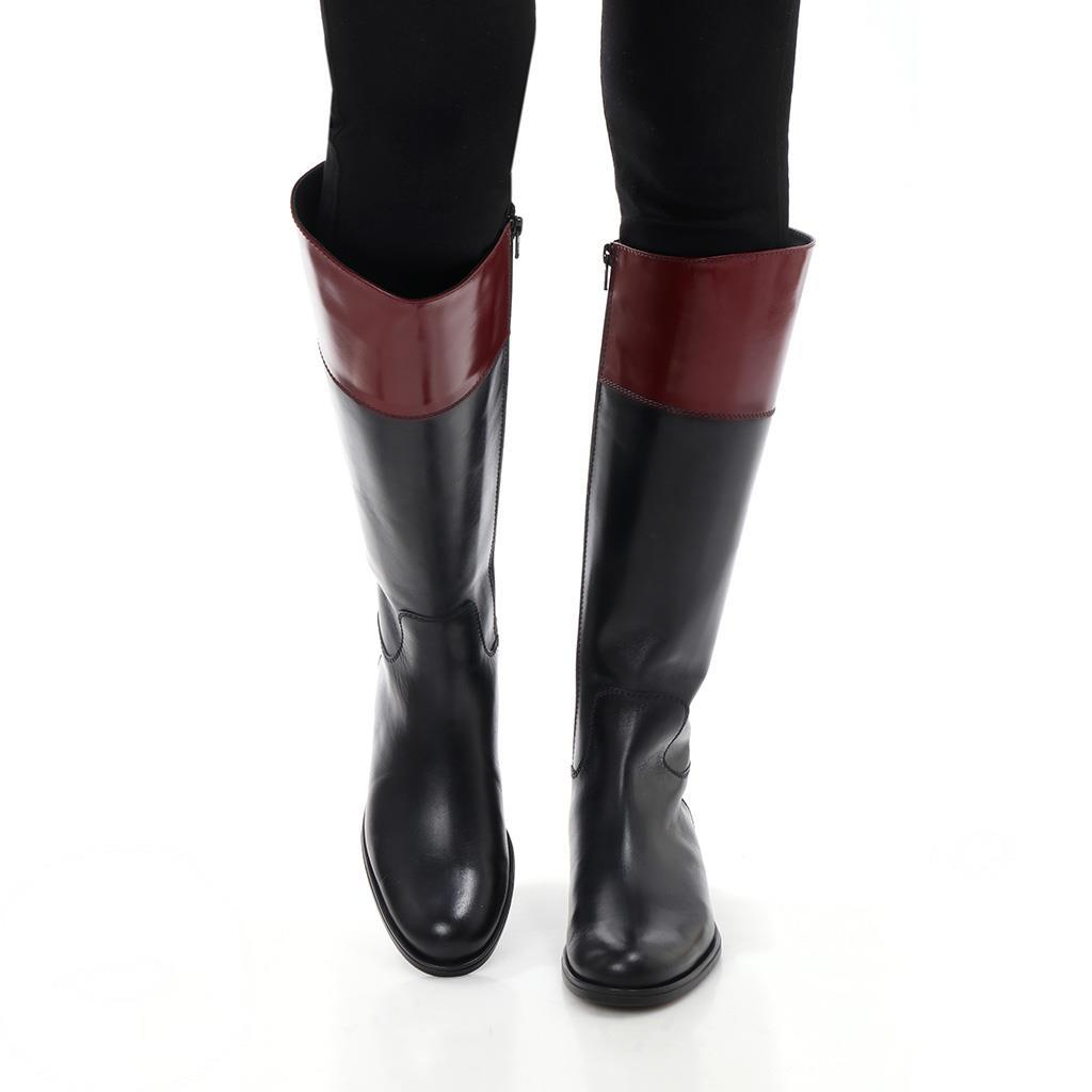 Jordyn|שחור|בורדו|מגפיים|מגפיים לנשים|מגפי עור לנשים