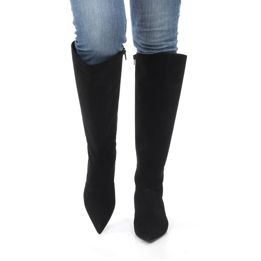 Alicia שחור מגפיים מגפיים לנשים מגפי עור לנשים