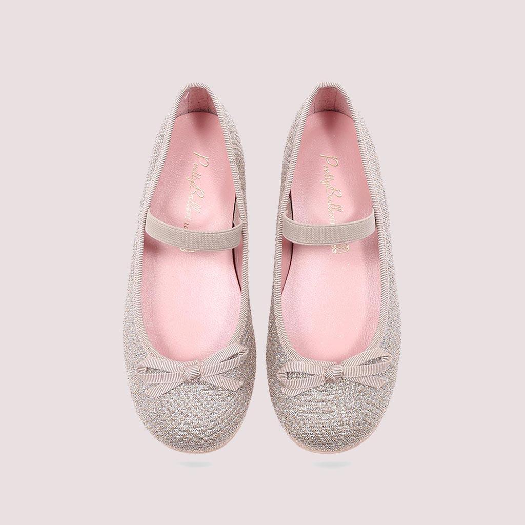Charli|כסף|ילדות| בלרינה|נעלי בלרינה לילדות|נעלי בלרינה