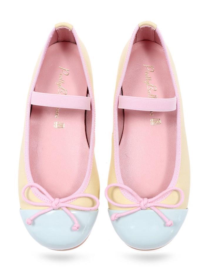 Karina|תכלת|צהוב|ילדות| בלרינה|נעלי בלרינה לילדות|נעלי בלרינה