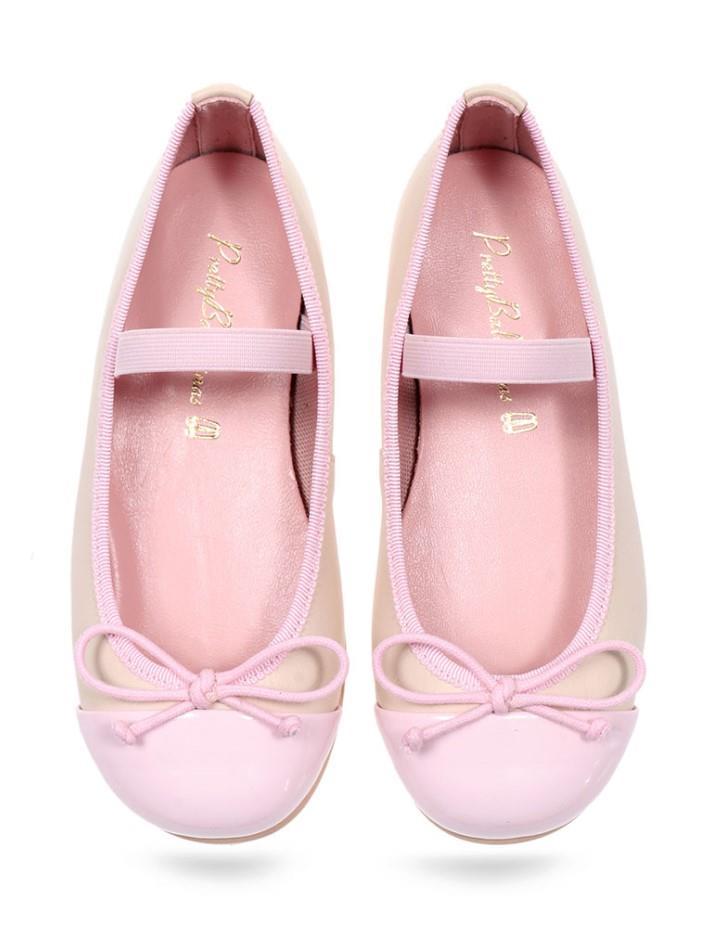 Amaris|ורוד|לבן|ניוד|ילדות| בלרינה|נעלי בלרינה לילדות|נעלי בלרינה