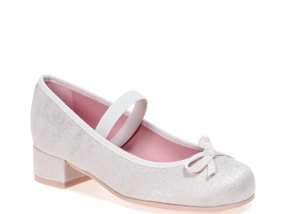 Emma אבן כסף נעלי עקב לילדות עקבים עקב Heels
