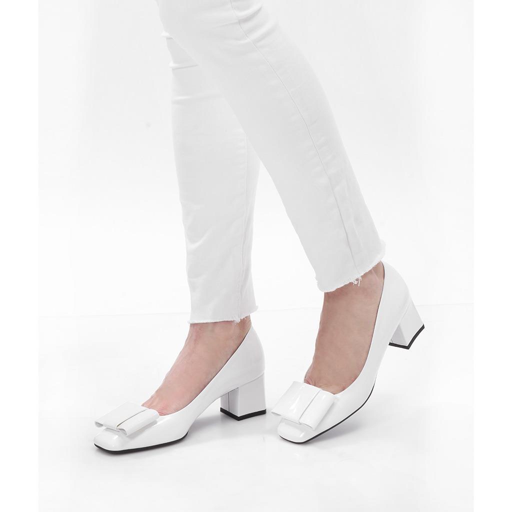 Toscana|לבן|עקב|נעלי עקב|Heels