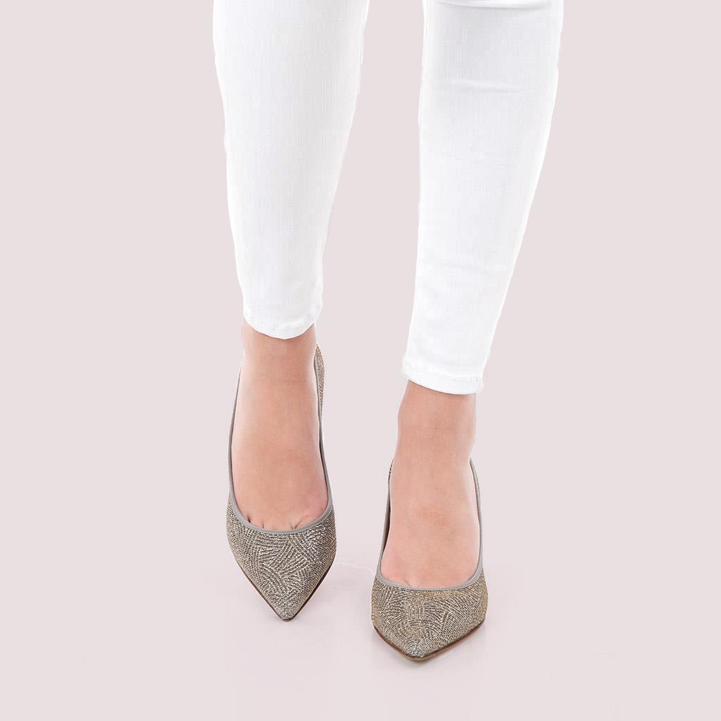 Phoebe|כסף|עקב|נעלי עקב|Heels