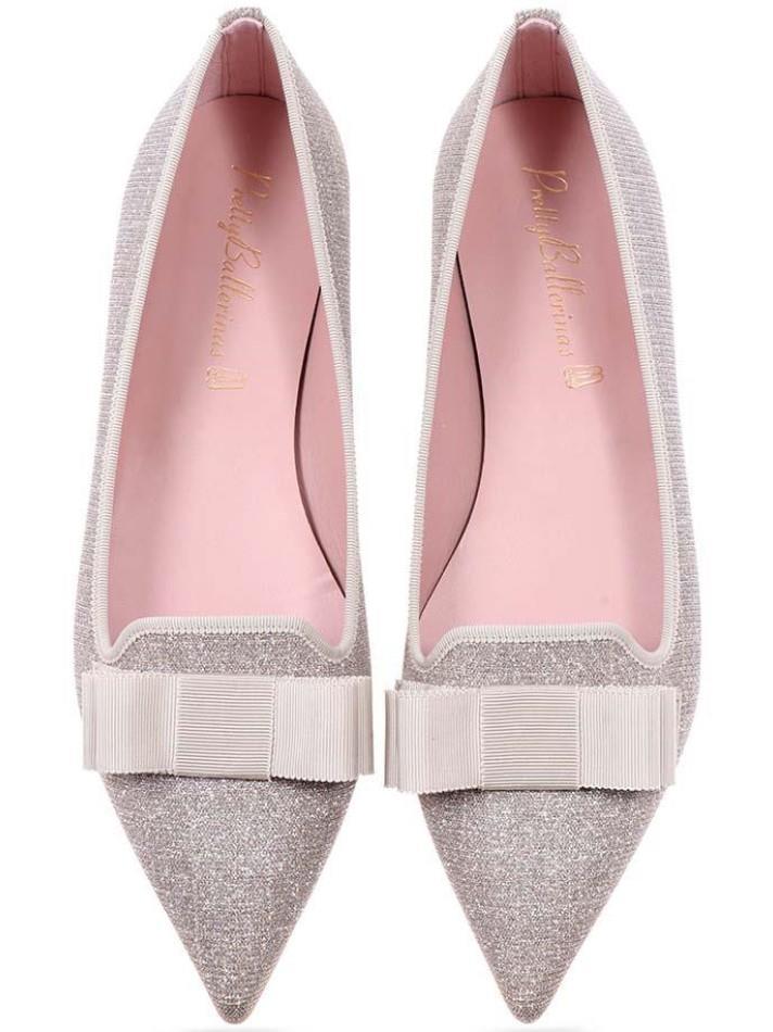 Ella|כסף|ניוד|נעלי בובה|נעלי בלרינה|נעליים שטוחות|נעליים נוחות|ballerinas