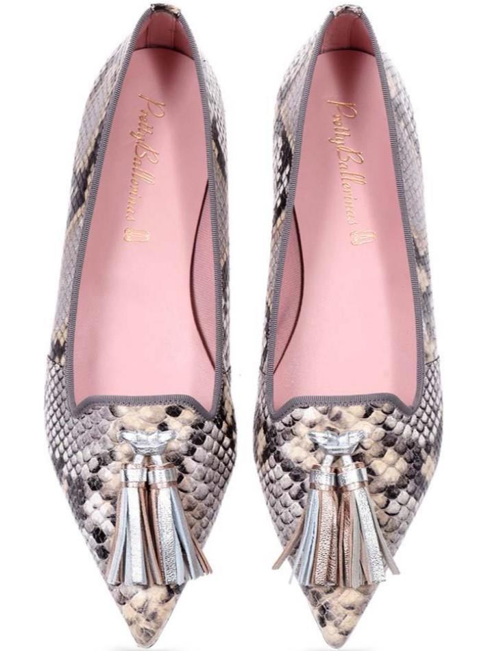 Leslie|כסף|נעלי בובה|נעלי בלרינה|נעליים שטוחות|נעליים נוחות|ballerinas