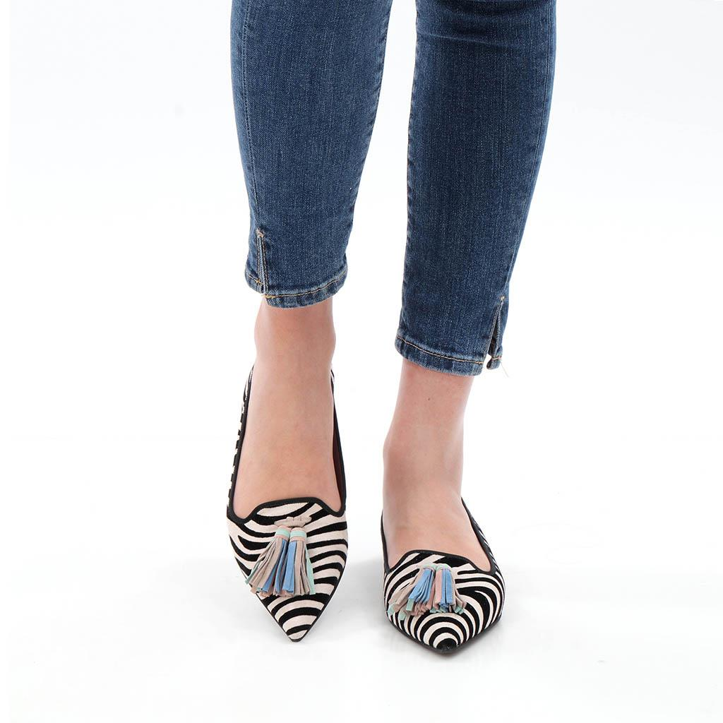 Siena|שחור|לבן|ניוד|נעלי בובה|נעלי בלרינה|נעליים שטוחות|נעליים נוחות|ballerinas