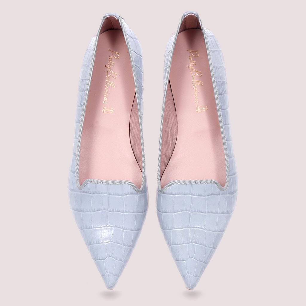 Martha|תכלת|נעלי בובה|נעלי בלרינה|נעליים שטוחות|נעליים נוחות|ballerinas