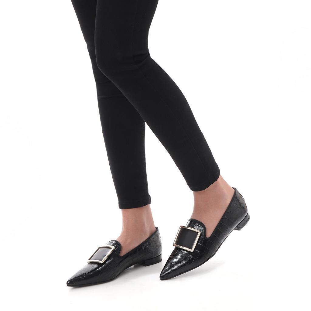 Lainey|שחור|נעלי בובה|נעלי בלרינה|נעליים שטוחות|נעליים נוחות|ballerinas