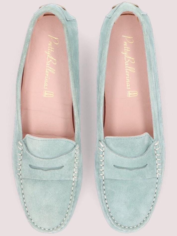 Josephine|תכלת|מוקסין|מוקסינים|נעליים שטוחות|moccasin