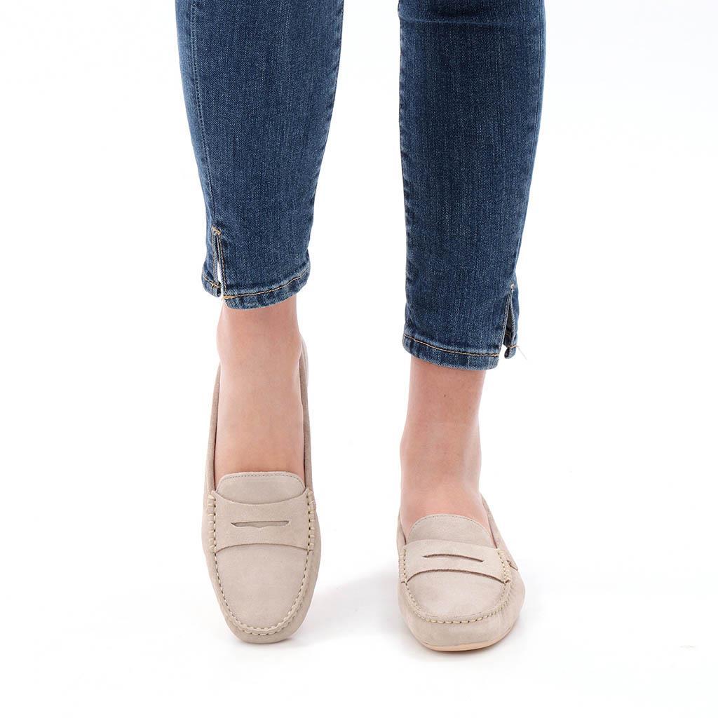 Amayah חום מוקסין מוקסינים נעליים שטוחות moccasin