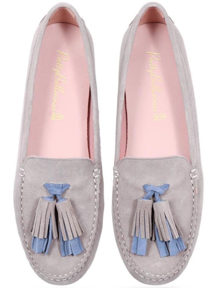 Paloma|אפור|כחול|מוקסין|מוקסינים|נעליים שטוחות|moccasin