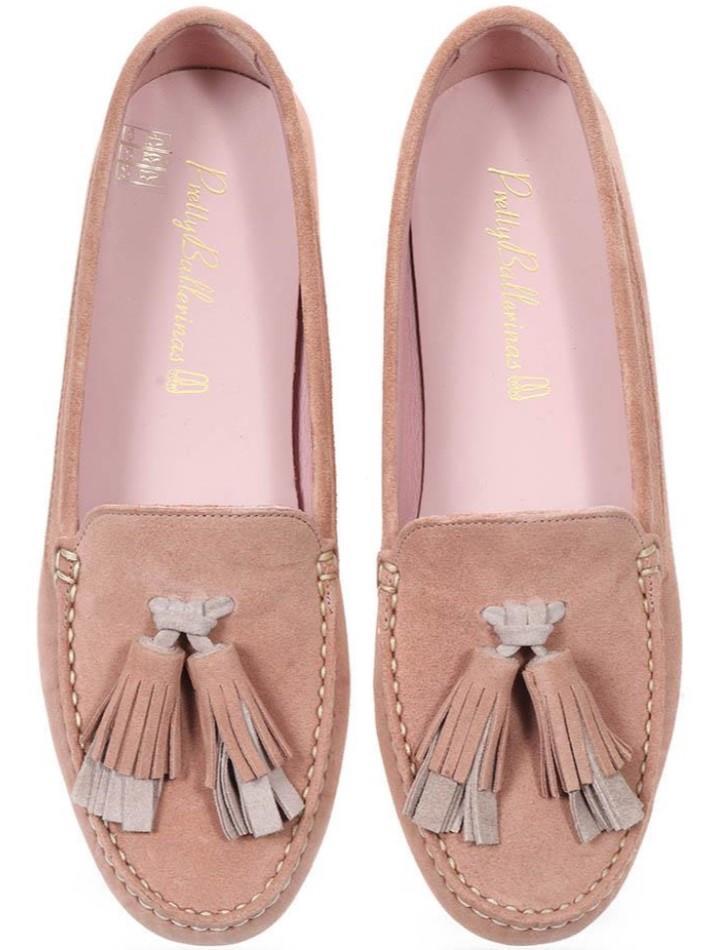 Sienna|ורוד|כאמל|ניוד|מוקסין|מוקסינים|נעליים שטוחות|moccasin