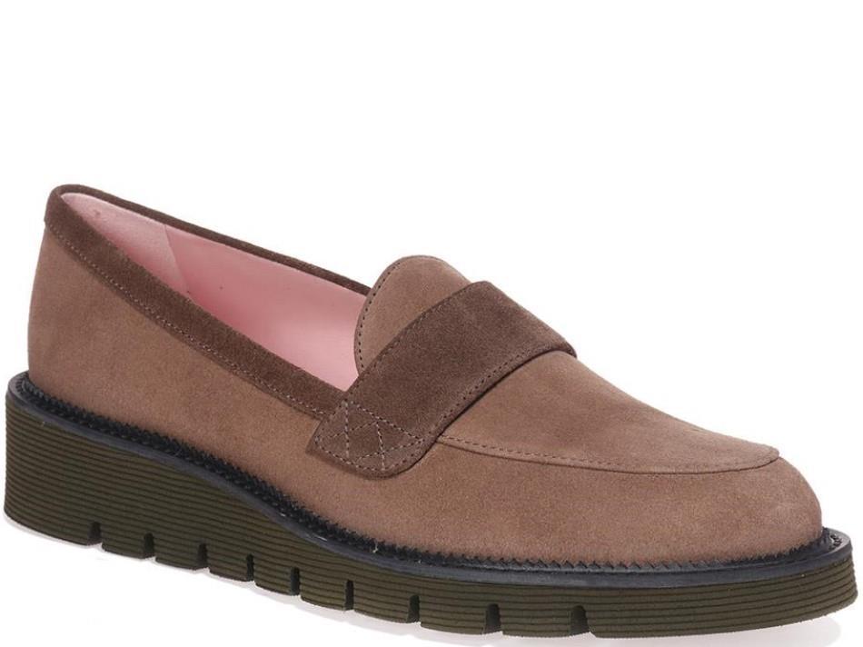 Jimena|חום|מוקסין|מוקסינים|נעליים שטוחות|moccasin